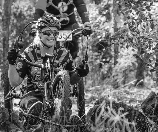 Adaptive Mountain Biking Perth Western Australia Dwellingup Female Off-road handcycling